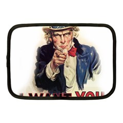 Uncle Sam Netbook Case (medium)  by Valentinaart