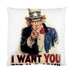 Uncle Sam Standard Cushion Case (one Side) by Valentinaart