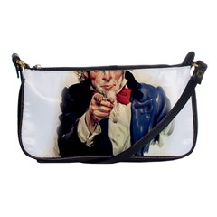 Uncle Sam Shoulder Clutch Bags by Valentinaart