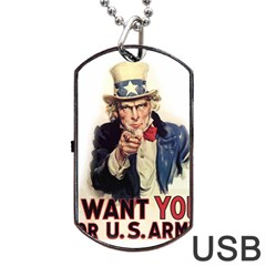 Uncle Sam Dog Tag Usb Flash (one Side) by Valentinaart