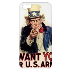 Uncle Sam Apple Iphone 5 Hardshell Case by Valentinaart