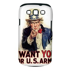 Uncle Sam Samsung Galaxy S Iii Classic Hardshell Case (pc+silicone) by Valentinaart