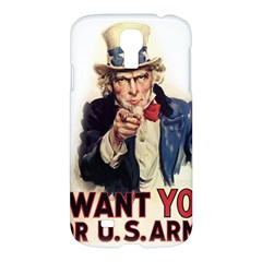 Uncle Sam Samsung Galaxy S4 I9500/i9505 Hardshell Case by Valentinaart