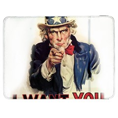 Uncle Sam Samsung Galaxy Tab 7  P1000 Flip Case by Valentinaart