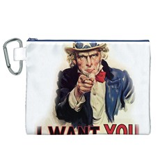 Uncle Sam Canvas Cosmetic Bag (xl) by Valentinaart
