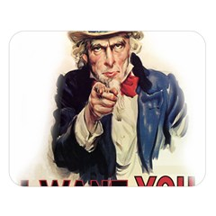 Uncle Sam Double Sided Flano Blanket (large)  by Valentinaart