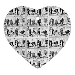 Old Comic Strip Ornament (heart) by Valentinaart