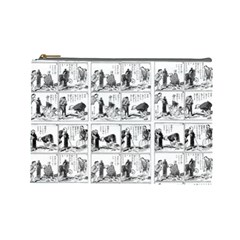 Old Comic Strip Cosmetic Bag (large)  by Valentinaart