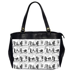 Old Comic Strip Office Handbags (2 Sides)  by Valentinaart