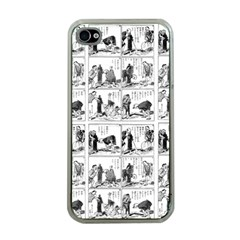 Old Comic Strip Apple Iphone 4 Case (clear) by Valentinaart