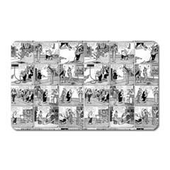 Old Comic Strip Magnet (rectangular) by Valentinaart