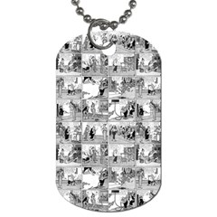 Old Comic Strip Dog Tag (two Sides) by Valentinaart