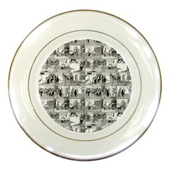 Old Comic Strip Porcelain Plates by Valentinaart