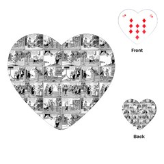 Old Comic Strip Playing Cards (heart)  by Valentinaart