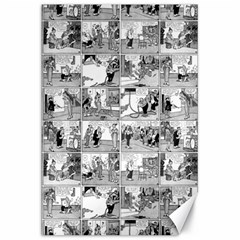 Old Comic Strip Canvas 20  X 30   by Valentinaart