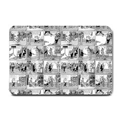 Old Comic Strip Small Doormat  by Valentinaart