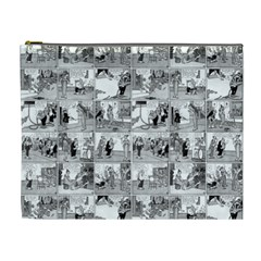 Old Comic Strip Cosmetic Bag (xl) by Valentinaart