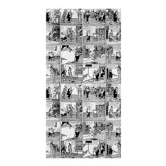 Old Comic Strip Shower Curtain 36  X 72  (stall)  by Valentinaart