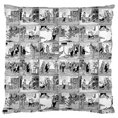 Old Comic Strip Large Cushion Case (two Sides) by Valentinaart