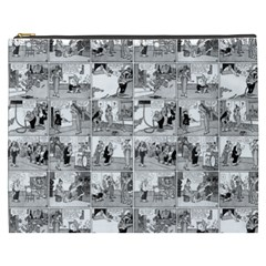Old Comic Strip Cosmetic Bag (xxxl)  by Valentinaart