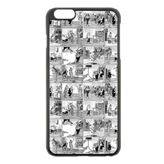 Old Comic Strip Apple Iphone 6 Plus/6s Plus Black Enamel Case by Valentinaart