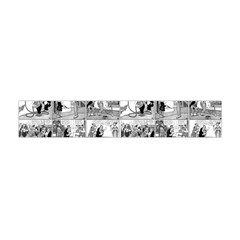 Old Comic Strip Flano Scarf (mini) by Valentinaart