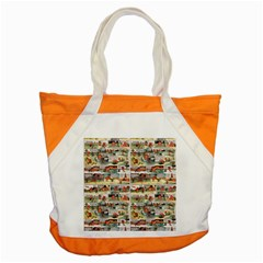 Old Comic Strip Accent Tote Bag by Valentinaart