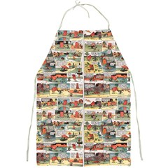 Old Comic Strip Full Print Aprons by Valentinaart