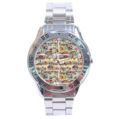 Old Comic Strip Stainless Steel Analogue Watch by Valentinaart
