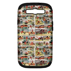 Old Comic Strip Samsung Galaxy S Iii Hardshell Case (pc+silicone) by Valentinaart
