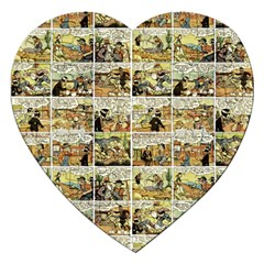 Old Comic Strip Jigsaw Puzzle (heart) by Valentinaart