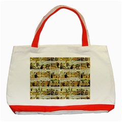 Old Comic Strip Classic Tote Bag (red) by Valentinaart