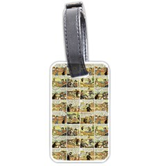 Old Comic Strip Luggage Tags (one Side)  by Valentinaart