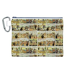 Old Comic Strip Canvas Cosmetic Bag (l) by Valentinaart