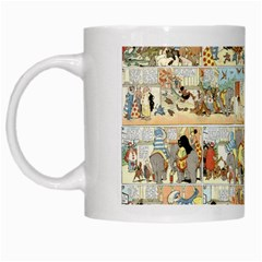 Old Comic Strip White Mugs by Valentinaart