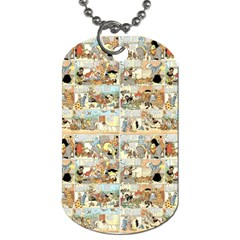 Old Comic Strip Dog Tag (one Side) by Valentinaart
