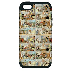 Old Comic Strip Apple Iphone 5 Hardshell Case (pc+silicone) by Valentinaart