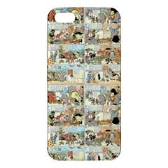 Old Comic Strip Apple Iphone 5 Premium Hardshell Case by Valentinaart