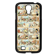 Old Comic Strip Samsung Galaxy S4 I9500/ I9505 Case (black) by Valentinaart
