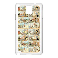 Old Comic Strip Samsung Galaxy Note 3 N9005 Case (white) by Valentinaart