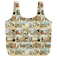 Old Comic Strip Full Print Recycle Bags (l)  by Valentinaart