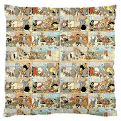Old Comic Strip Standard Flano Cushion Case (one Side) by Valentinaart