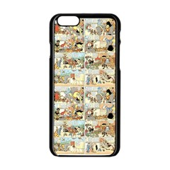 Old Comic Strip Apple Iphone 6/6s Black Enamel Case by Valentinaart