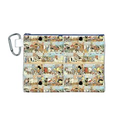 Old Comic Strip Canvas Cosmetic Bag (m) by Valentinaart