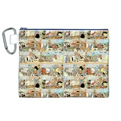 Old Comic Strip Canvas Cosmetic Bag (xl) by Valentinaart