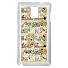 Old Comic Strip Samsung Galaxy Note 4 Case (white) by Valentinaart