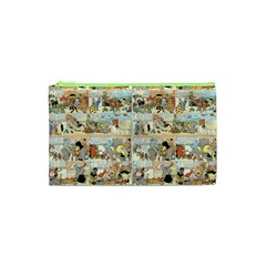 Old Comic Strip Cosmetic Bag (xs) by Valentinaart