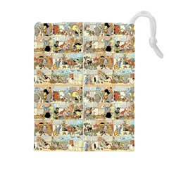 Old Comic Strip Drawstring Pouches (extra Large) by Valentinaart