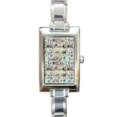 Old Comic Strip Rectangle Italian Charm Watch by Valentinaart