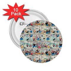 Old Comic Strip 2 25  Buttons (10 Pack)  by Valentinaart